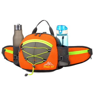 Newest Waterproof Neoprene Mens Outdoor Sports Running Belt Waist Pack Bag With Water Bottle