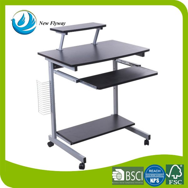 energy and comfort home MDF organizer shelf with wheel foldable kids study desk computer table with receive a CD rack