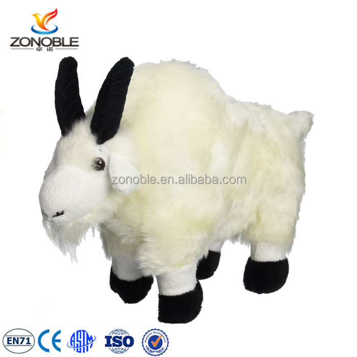 Factory Custom Cute White Stuffed Goat Soft Toy Stuffed Animal Plush