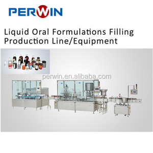 30ml-500ml cough syrup milk and oil automatic bottle washing filling capping machine for sale