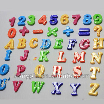 26 Letter Alphabet Number Sign Fridge Magnet Baby Educational Toy