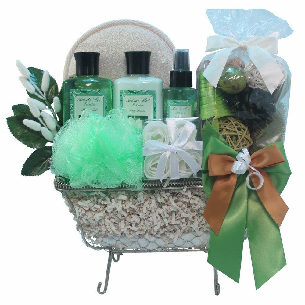 Get Quotations · Art of Appreciation Gift Baskets Essence of Jasmine Bathtub Spa, Bath and Body Gift Set