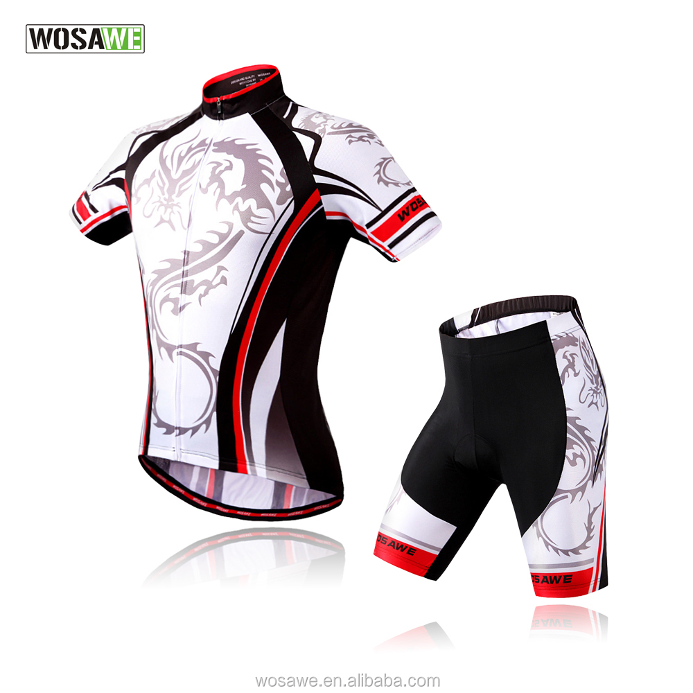 Wosawe Dragon Cycling Jersey Set Wholesale Stock Cycling Clothing Size S M L XL XXL