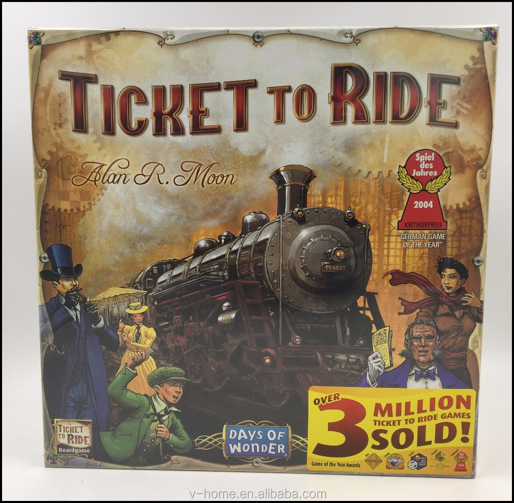 2017 Amazon hot sale ticket to ride US board game