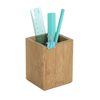 Multipurpose Pencil Cup Stand Bamboo Wood Pen Pot