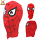 Halloween Carnival Cosplay Party Mask, Children Boy Girls Funny Spiderman Mask Polyester Hat Cap Party Spider Man Mask