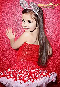 Red-Sequin Backdrop for Photography-2FTx8FT,Shimmer Sequin Fabric Photography Backdrops Sequin Curtain for Wedding/Christmas/Decor