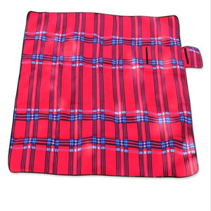 Unionpromo portable flannel custom waterproof outdoor picnic blanket