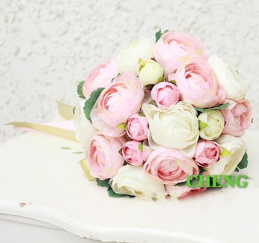achetez en gros bridesmaid flower bouquet yellow en ligne des grossistes bridesmaid flower. Black Bedroom Furniture Sets. Home Design Ideas