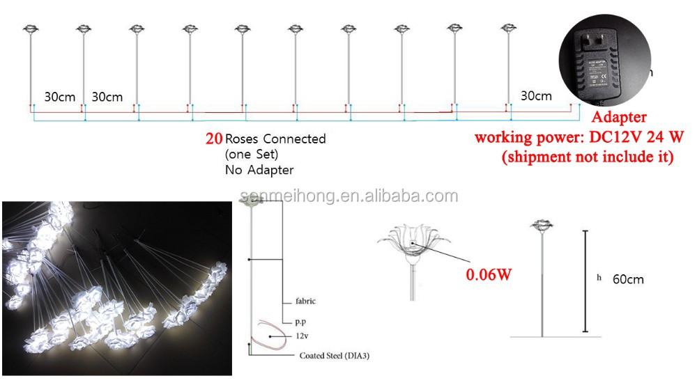 Solar Led dragonfly Rose Flower Light Solar Powered Blossom Christmas Lights Decorative Lighting for Garden, Path, Patio, Yard