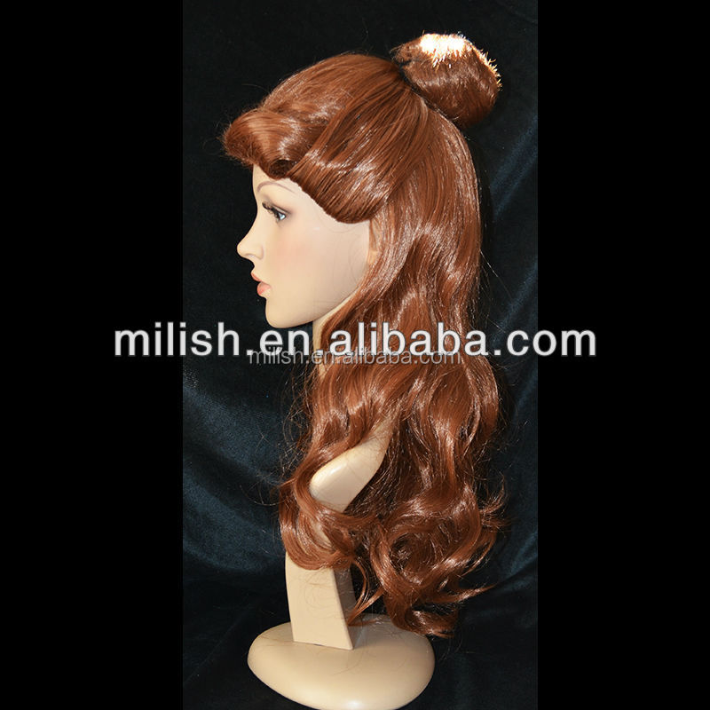 Beauty and the Beast Custom Made cartoon Cosplay Belle Wigs MCW-0099