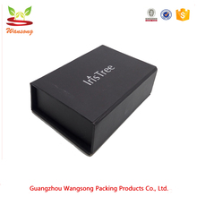wholesale custom magnetic lock rigid logo foil sliver black packaging paper box,magnet closure cardboard gift boxes for VIP card