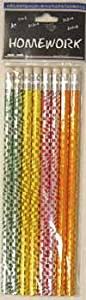 Foil Pencils - 8 Pack - Asst.Designs [48 Pieces] - Product Description - Foil Pencils - 8 Pack - Assorted Designs, No 2 Lead, Safe Non Toxic. ...