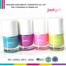 Neon Colors Fast Dry Water Based Peel Off Flavored Nail Polish For Girls