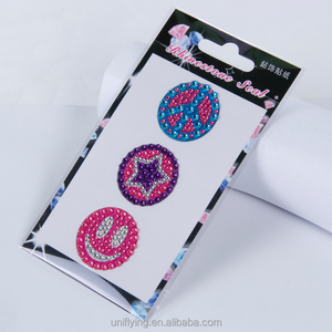GLITTER CRYSTAL DIAMOND DECORATION / SHINING RHINESTONE STICKER FOR CAR STICKER & CELL PHONE ORNAMENT