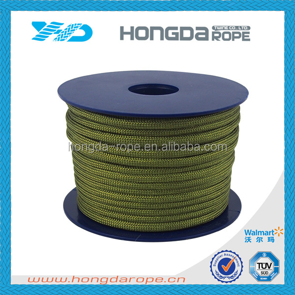4mm X 25m/reel polyester 550 paracord olive geen