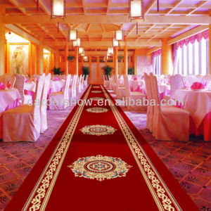 Red carpet for wedding banquet hall