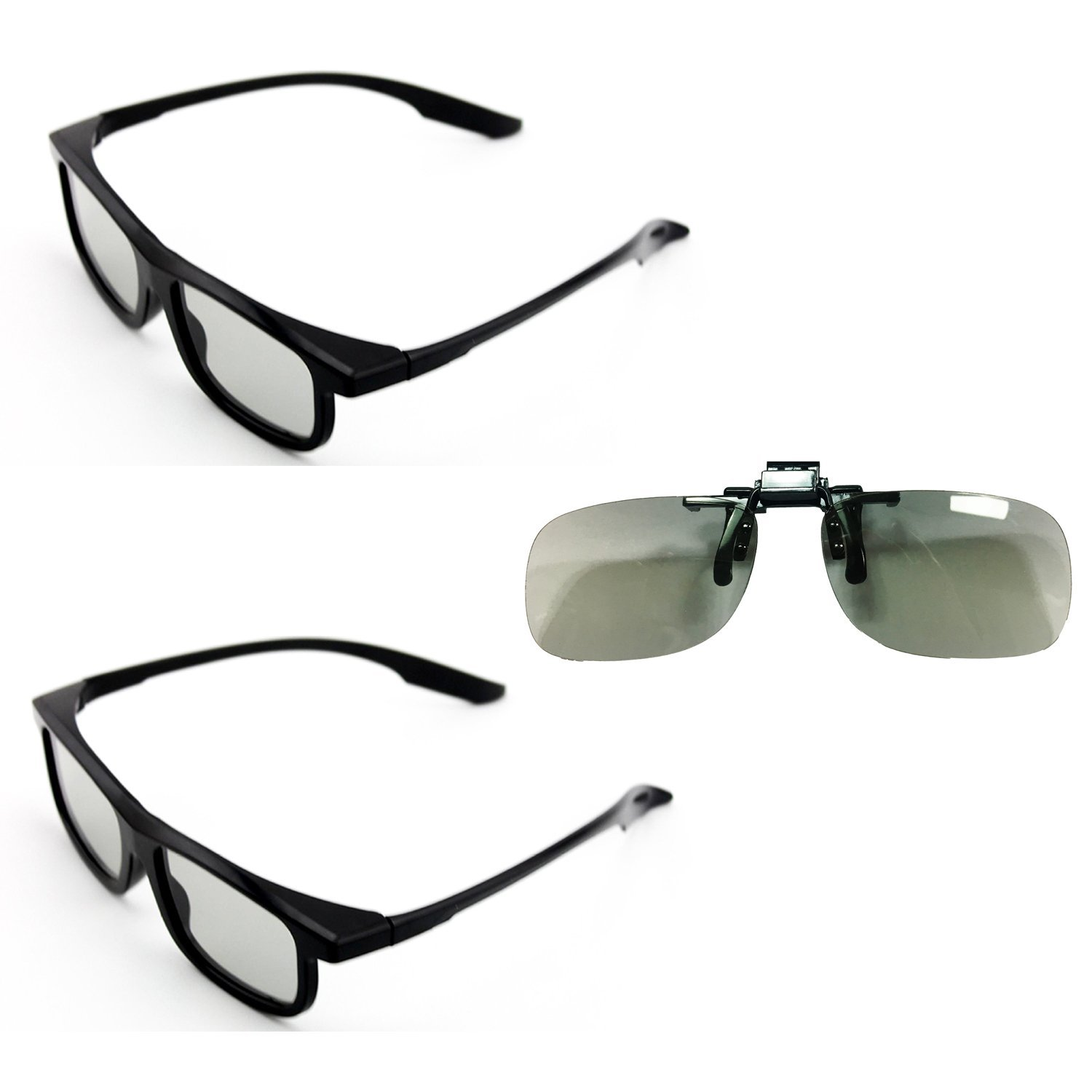 Goswot 3 Pairs of Passive Circular Polarized 3D Glasses for Real-D Theaters/ Passive 3D TVs
