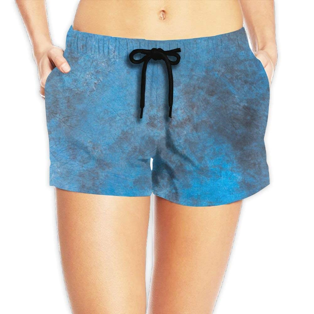 192fedb0f3 Get Quotations · Women's Blue Tie Dye Board Shorts Sports Beach Shorts For  Outside Home With Pockets