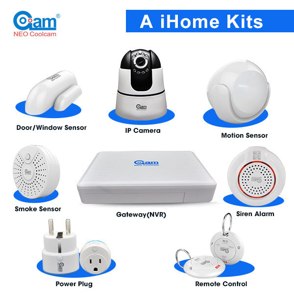 NEO Coolcam Door open alarm system, pir wifi home security alarm system RF916MHz IL