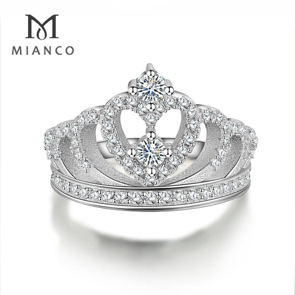 Wholesale Factory 925 Silver Crown Shaped Ring Mr63s - Buy Crown ...