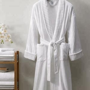 6aa2e268e6 Hotel White Stripe Bathrobe