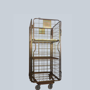 China factory manufacturer metal rolling cage cart