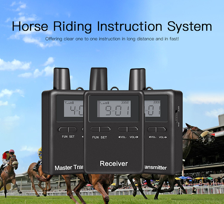 Wireless Headphones Audio Guide Coaches Headset For Horse Riding