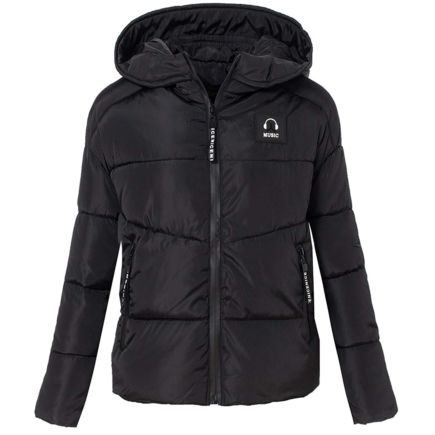 2b4e4110607 Get Quotations · Womens Thick Quilted Puffer Jacket Hooded Cotton Padded  Jacket Winter Outerwear Parka Alternative Coats for Women