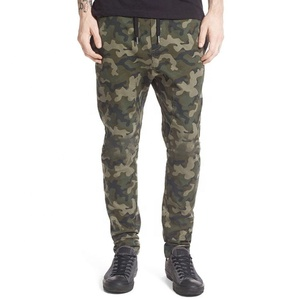 Mens woven camo jogger pant cool design cotton twill jogger pants