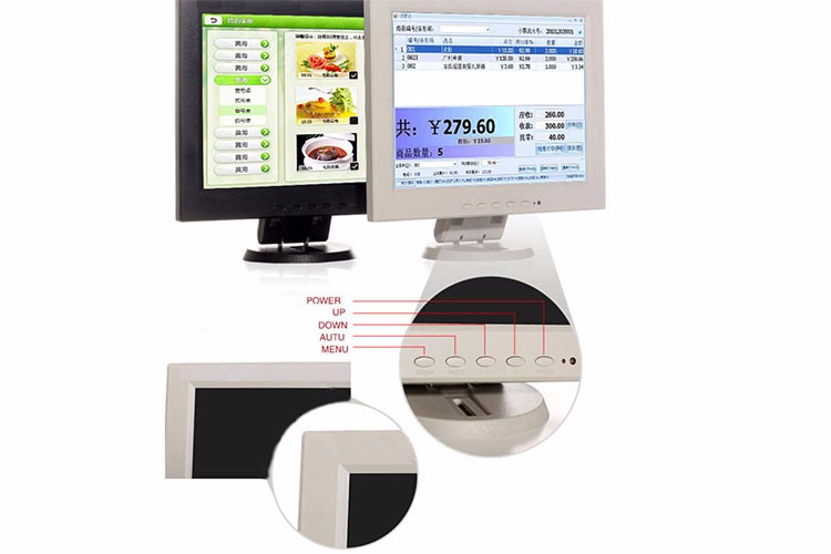 1024x768 wall mounted 10 inch tft lcd monitor white with av input
