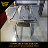 Hot sale custom stainless steel table metal frame glass top