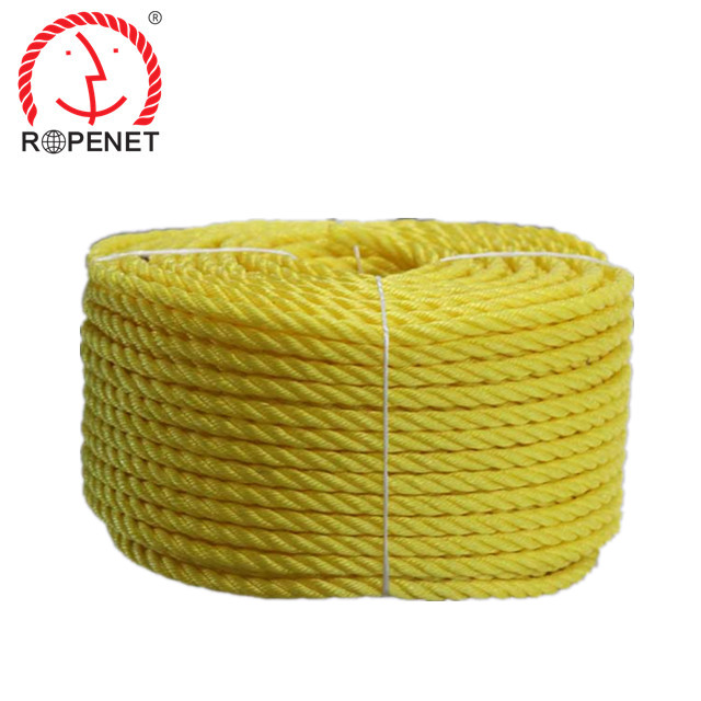 "3/8"" 1/2"" 5/8"" 3/4"" 3 strand polypropylene twisted rope"