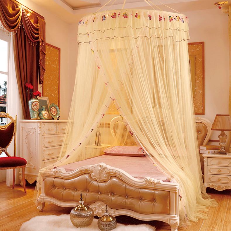 Letto A Baldacchino Rosa.Acquista Large Size Massimale Netto Zanzariera Bed Double Fine