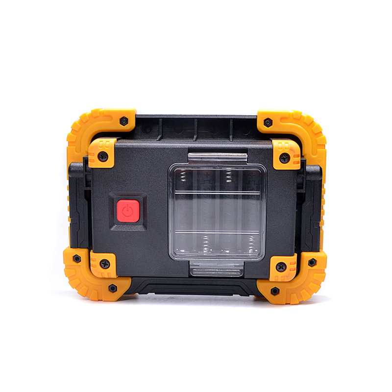 Outdoor Portable 450 lm Flash Lamp 4xAA or 18650 Battery Powered Cordless Worklight Garden Emergency 10W COB LED Work Light