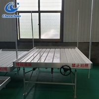 Propagation flood trays aluminum rolling table flood drain tray