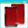 Durable Folio Crazy Horse Grain Leather Case For ASUS Memo Pad 8 Me180a