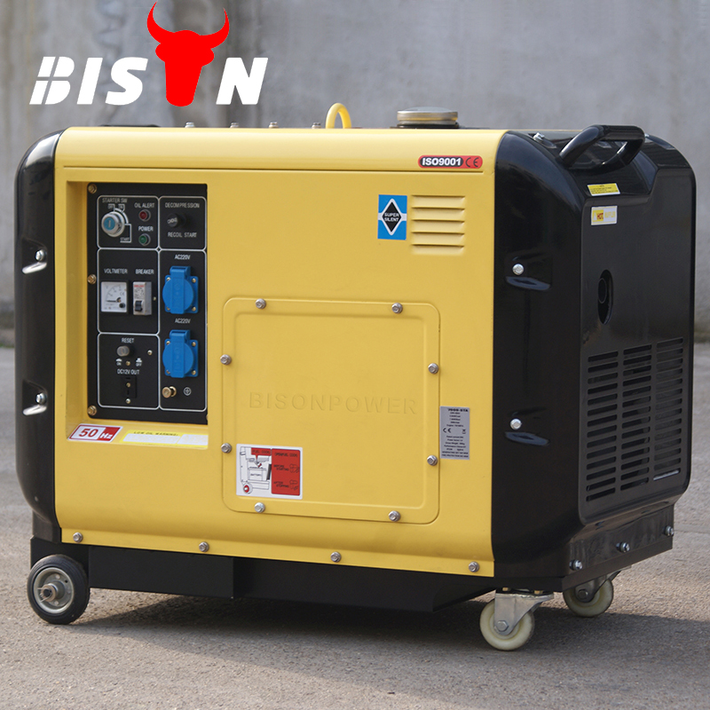 Bison China 50/60hz direct injection hot sale 100% copper 4 Stroke two Cylinder Air Cooled 220v Silent 10 kva 3 Phase Generator