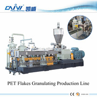 China Supplier PET Flakes Granulating Machine / Plastic PET Granulating Manufacture Production
