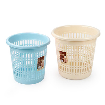 Plastic Waste Paper Basket Without Lid Mesh Wastebasket Wire Rubbish Bin