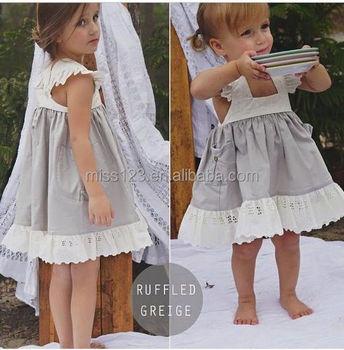 b1670f86eebe Girls Cotton Linen Dress