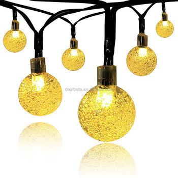 Solar globe string lights outdoor 197 ft 30 led warm white crystal solar globe string lights outdoor 197 ft 30 led warm white crystal ball mozeypictures Choice Image