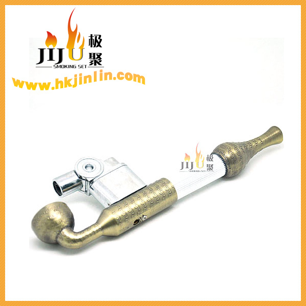JL-090 Yiwu Jiju Zinc and Copper Cigarette Lighter Automatic Smoking Pipe