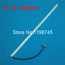 19inch wide 425mm*9mm CCFL Backlight Lamps with Frame/holder for LCD Monitor Screen Panel Assembly Double lamps 2pcs