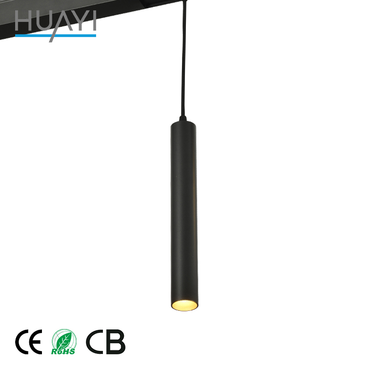 Contemporary Design Minimalism Bedroom Aluminum Black LED Pendant Light