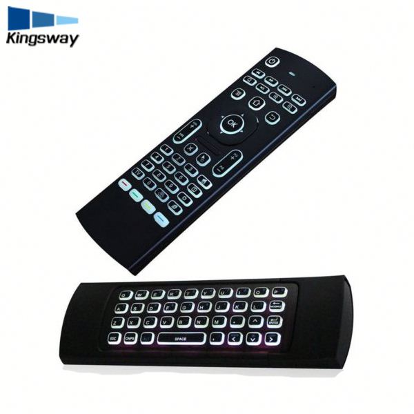 Backlight 3D remote key board 2.4ghz mx3 wireless keyboards for smart tv box