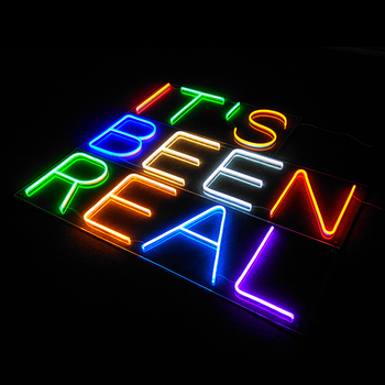 acrylic letters plastic sign holder beer neon led sign
