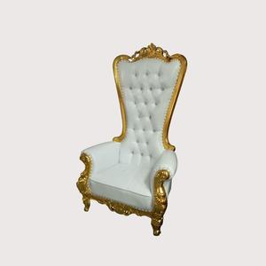 High Grade Hotel Furniture antique wedding queen wedding gold royal king throne chair for Sale