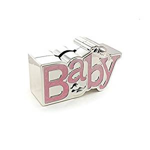 ukgiftstoreonline Baby Gift Or Christening Gift Silver Plated Baby Money Box Gift