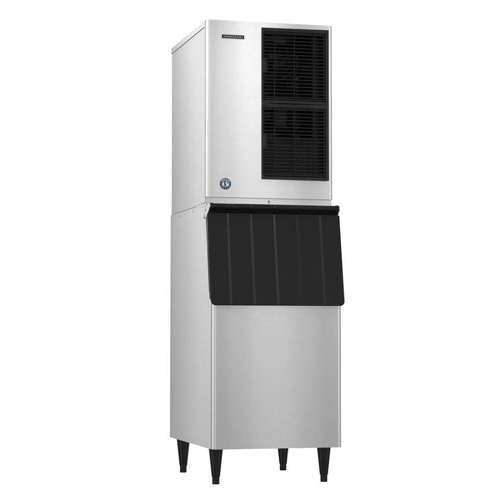 Hoshizaki KM-340MAJ/B-300PF 404 lb. Crescent Cube Ice Maker with Bin - 300 lb. Storage, Air Cooled, 115v